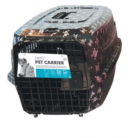 Kedi Köpek Taşıma Çantası Kuru Kafa Desenli 58*40*26,5 Max 11 KG